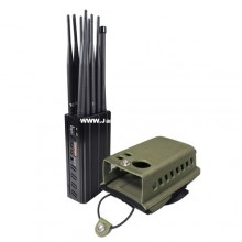 Selectable 10 Antennas Portable Signal Jammer Cell Phone 2G 3G 4G WiFi 2.4G 5.8G GPS Lojack Blocker