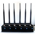 15W High Power Adjustable 6 Antenna Signal Blocker for 3G 4G Mobile Phone Devices