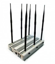 Adjustable Powerful 6 Bands 3G Phone WIFI GPS Jammer Up to 100 Meters