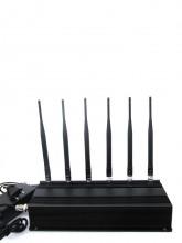 15W High Power Desktop 6 Antennas Blocker for Cellphone UHF WiFi Devices