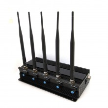 High Power Desktop Full Bands Adjustable Signal Jammer for GPS Tracker Devices