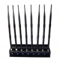 High Power Adjustable Desktop Signal blocker for 3G 4G Cellphone UHF VHF WiFi Devices