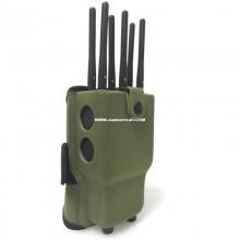 6 Antennas Portable Cell Phone Jammer Selectable 2.4G WiFi 2G 3G 4G Blocker