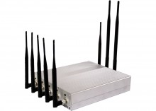 12W High Power 8 Antennas Signal Jammer for 3G Cellphone GPS WiFi VHF UHF Devices