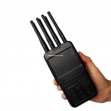 Portable Selectable 8 Antennas 4G Jammer Cell Phone and All WiFi (2.4G, 5.8G) Blocker