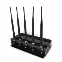 5 Antennas 12W High Power 3G Mobile Phone Signal Jammer